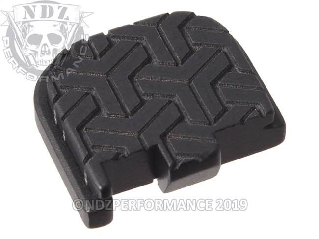 Black Glock 43 Rear Slide Plate TW