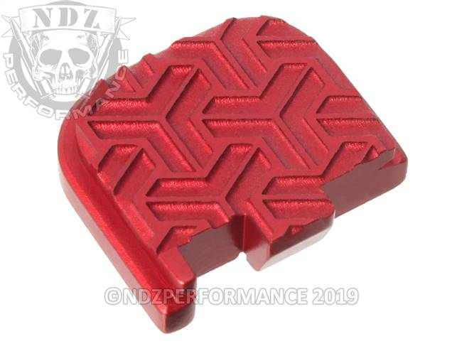 Red Glock 43 Rear Slide Plate TW Inv