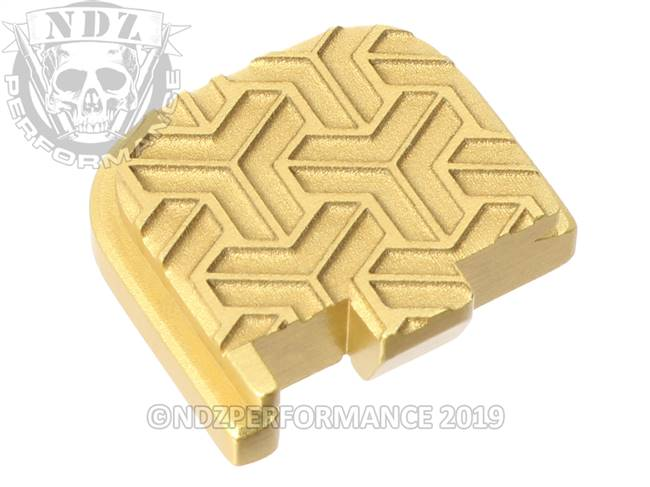 Gold Glock 43 Rear Slide Plate TW Inv