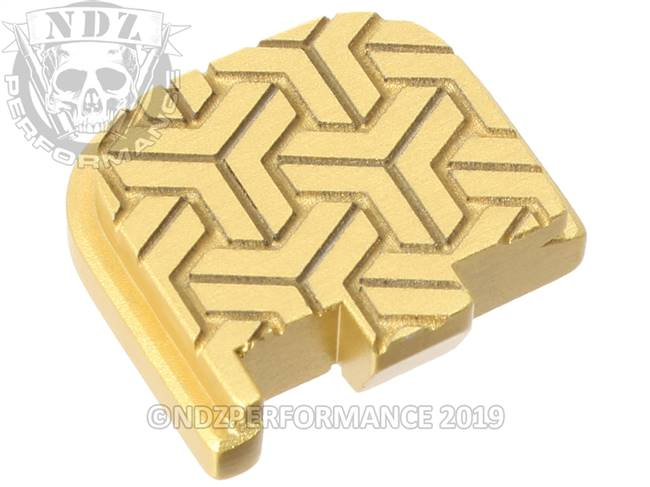 Gold Glock 43 Rear Slide Plate TW