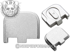 NDZ Silver Rear Plate for Glock 43 (*LZ)