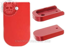 NDZ Magazine Plate for Glock 43X 48 Red 9MM (*LZ)