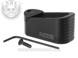 NDZ GLOCK 43X 48 PLUS 2 MAGAZINE EXTENSION WITH TAB 9MM BLACK