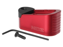 NDZ GLOCK 43X 48 PLUS 2 MAGAZINE EXTENSION WITH TAB 9MM RED