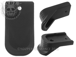 NDZ Black Finger Extended Magazine Plate for Glock 43X 48 9MM Black (*LZ)