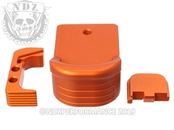 NDZ Performance Special Edition Orange Glock Model 43x and 48 Kits in 9MM.