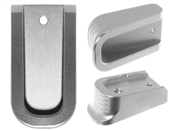 NDZ Special Edition Silver Finger Extended Magazine Plate for Glock 43X 48 9MM Silver
