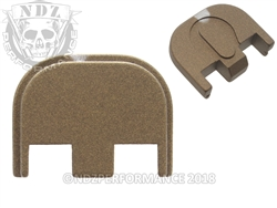 Aftermarket Cerakote Burnt Bronze Glock Back Plate - Gen 5 17 19 19X 26 34 | NDZ Performance