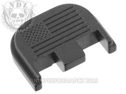 NDZ Glock 5 rear plate US Flag Black
