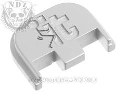 NDZ Glock 5 rear plate F It Stickman Silver