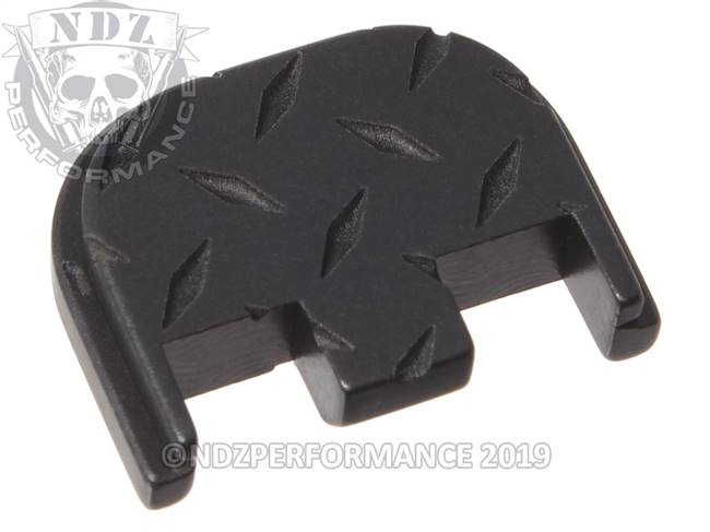 NDZ Black Glock Gen 5 Rear Slide Cover Plate  Diamond Cut Inverse