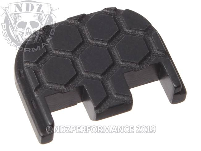 NDZ Black Glock Gen 5 Rear Slide Cover Plate  Honey Comb