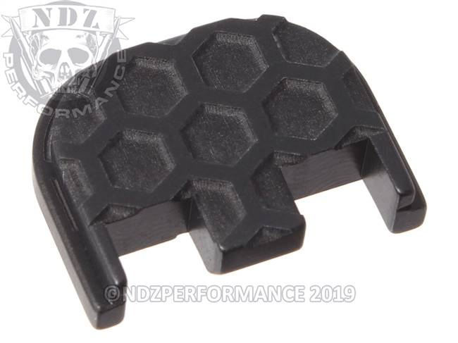 NDZ Black Glock Gen 5 Rear Slide Cover Plate  Honey Comb Inverse