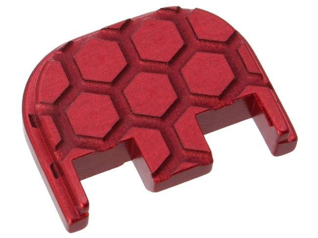 NDZ Red Glock Gen 5 Rear Slide Cover Plate  Honey Comb