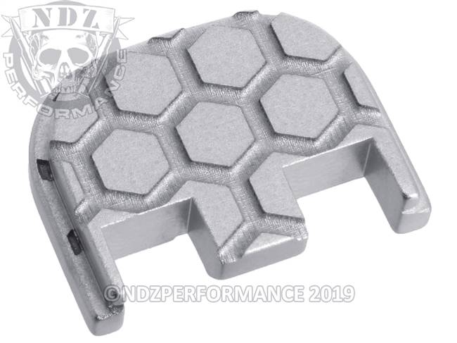 NDZ Silver Glock Gen 5 Rear Slide Cover Plate  Honey Comb