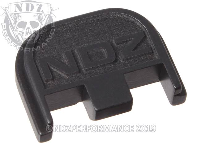 NDZ Black Glock Gen 5 Rear Slide Cover Plate  NDZ Logo