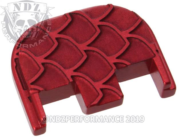 NDZ Red Glock Gen 5 Rear Slide Cover Plate  Scales Inverse