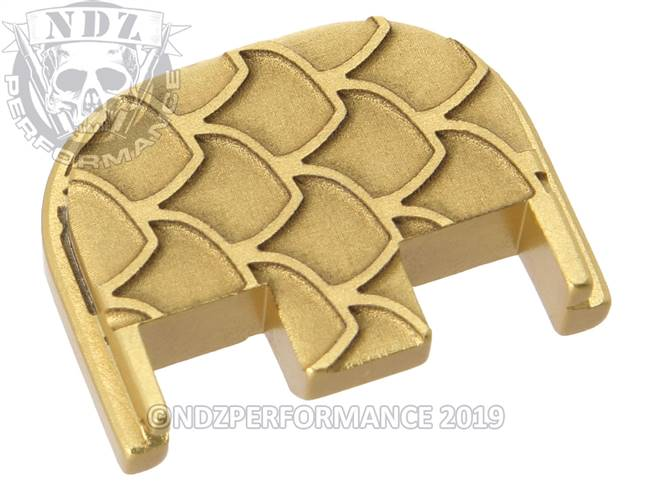 NDZ True Gold Glock Gen 5 Rear Slide Cover Plate  Scales Inverse