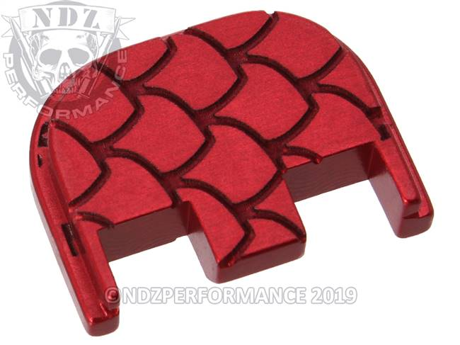 NDZ Red Glock Gen 5 Rear Slide Cover Plate  Scales