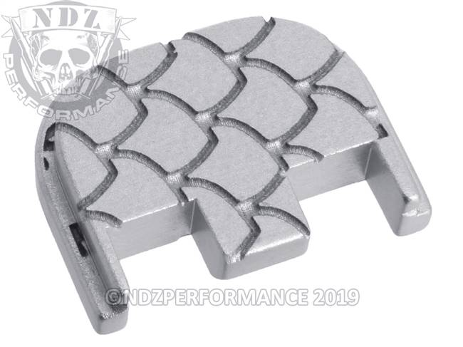 NDZ Silver Glock Gen 5 Rear Slide Cover Plate  Scales