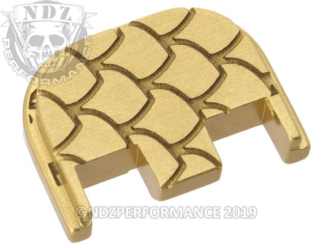 NDZ True Gold Glock Gen 5 Rear Slide Cover Plate  Scales