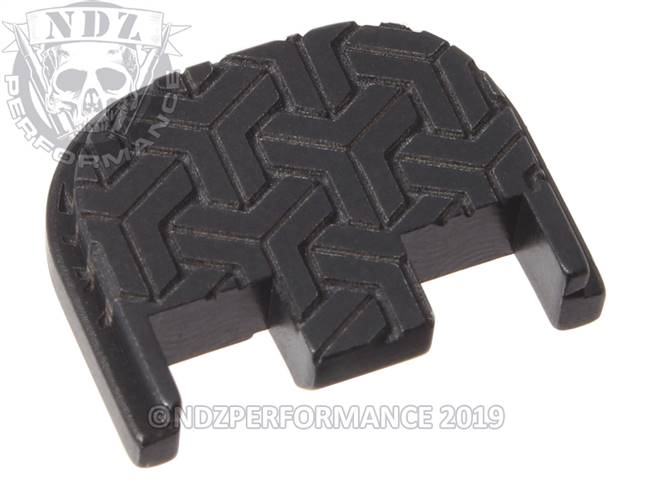 NDZ Black Glock Gen 5 Rear Slide Cover Plate  TriWeave
