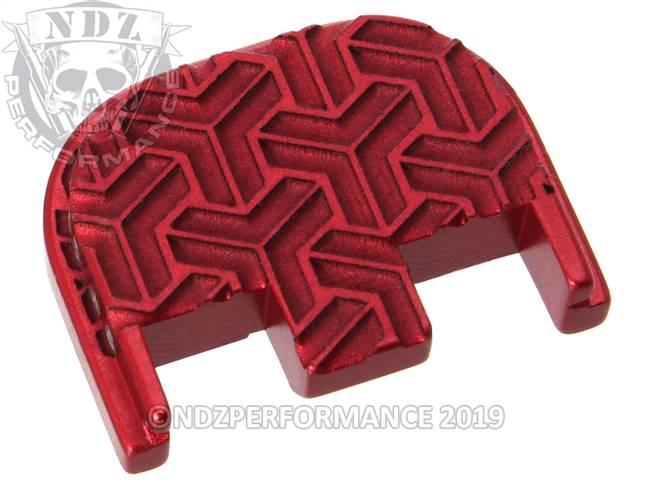 NDZ Red Glock Gen 5 Rear Slide Cover Plate  TriWeave Inverse