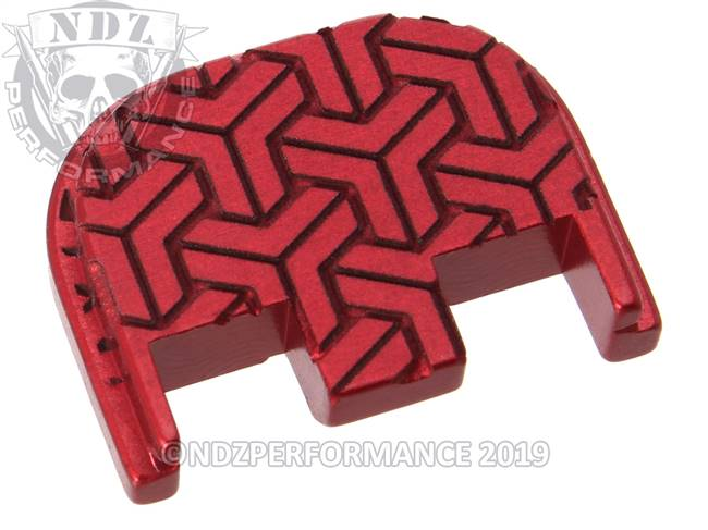 NDZ Red Glock Gen 5 Rear Slide Cover Plate  TriWeave