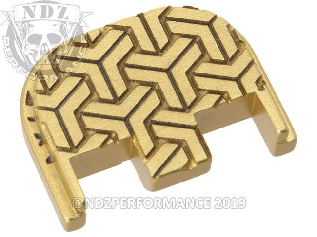 NDZ True Gold Glock Gen 5 Rear Slide Cover Plate  TriWeave