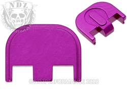 Aftermarket Purple Glock Back Plate - Gen 5 17 19 19X 26 34 | NDZ Performance