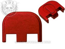 Aftermarket Red Glock Back Plate - Gen 5 17 19 19X 26 34 | NDZ Performance
