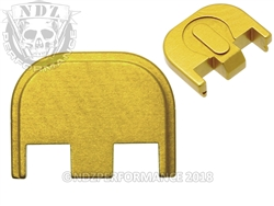Aftermarket Gold Glock Back Plate - Gen 5 17 19 19X 26 34 | NDZ Performance