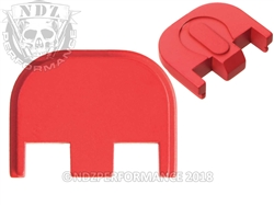 Aftermarket Cerakote USMC Red Glock Back Plate - Gen 5 17 19 19X 26 34 | NDZ Performance