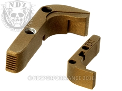 Aftermarket Burnt Bronze Extended Mag Release For Glock Gen 1-3 | NDZ Performance