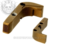 Aftermarket Burnt Bronze Plus Sized Mag Release For Glock Gen 1-3 | NDZ Performance