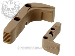 Aftermarket FDE Plus Sized Mag Release For Glock Gen 1-3 | NDZ Performance