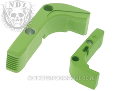 Aftermarket Cerakote Zombie Green Plus Sized Mag Release For Glock Gen 1-3 | NDZ Performance