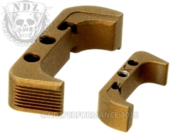 Aftermarket Burnt Bronze Plus Sized Mag Release For Glock Gen 4 | NDZ Performance