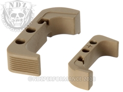 NDZ Magazine Release Plus for Glock Gen 4 Cerakote Flat Dark Earth