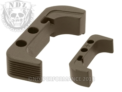 NDZ HC FDE Magazine Release Plus for Glock Gen 4 (*LZ)