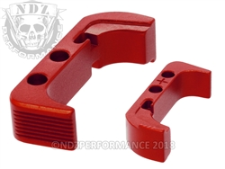 NDZ Red Magazine Release Plus for Glock Gen 4 (*LZ)