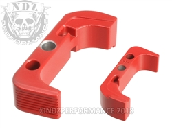 Aftermarket USMC Red Plus Sized Mag Release For Glock Gen 4 | NDZ Performance