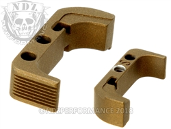 Aftermarket Burnt Bronze Mag Release For Glock Gen 4 | NDZ Performance