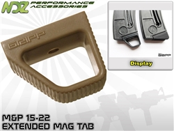 Gripp Magazine Plate Tab for Smith & Wesson 15-22 FDE