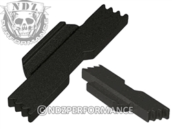 Jentra Black Extended Slide Lock Lever for Glock 43