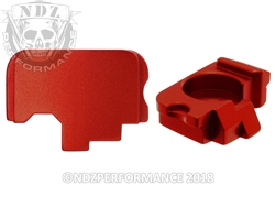 NDZ Red Rear Slide Plate for Kahr  (*LZ)