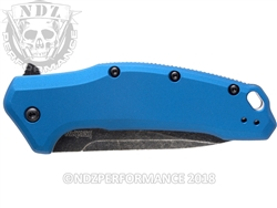 "Kershaw Link 1776NBBW Blue Folding Pocket Knife 3.25"" Blade"