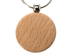 NDZ Circular Wooden Key Chain (*LZ)