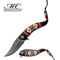 Indian Native American Feather Knife Black