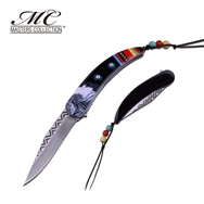 Indian Native American Claw Knife Black